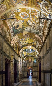 Istanbul, Chora-Kloster: Innerer Narthex (IN) nach Süden