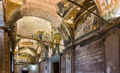 Istanbul, Chora-Kloster: äußerer Narthex (äN) nach Nordosten