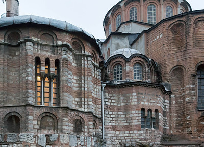 Istanbul, Chora-Kloster (Kariye Camii): Apsiden von Osten, Detail