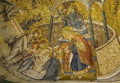 Istanbul, Chora-Kloster: Darstellung Marias im Tempel (18)
