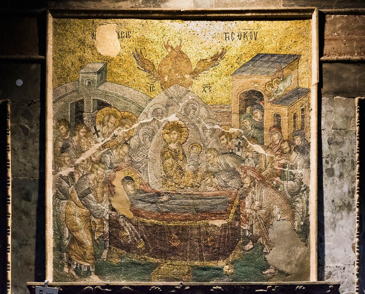 Istanbul, Chora-Kloster: Naos, Marientod (Koimesis)
