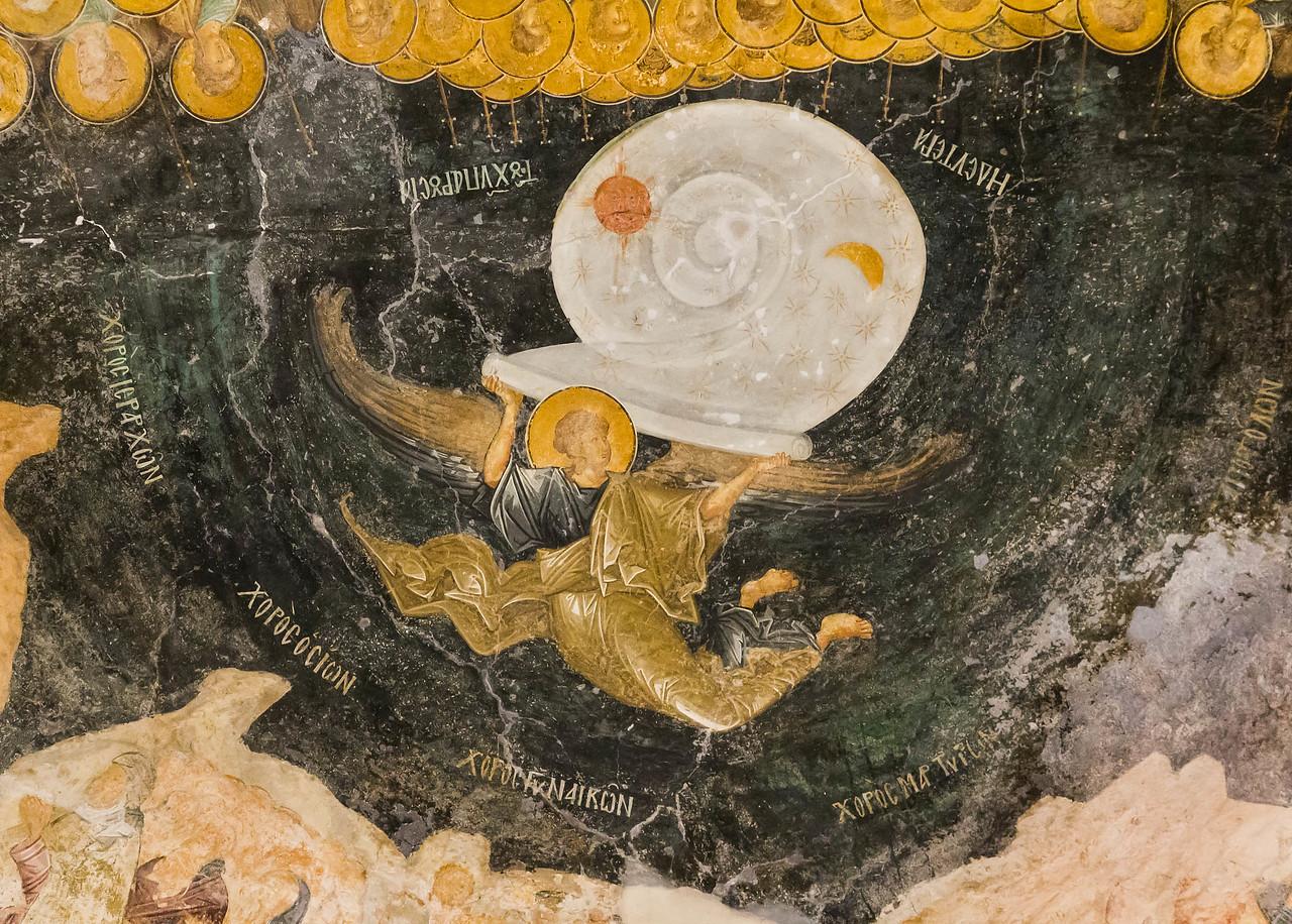Istanbul, Chora-Kloster: Parekklesion: Himmel als zusammengerollte Schnecke (69)