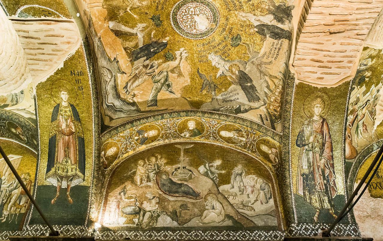Istanbul, Chora-Kloster: äN J2 O: Versuchungen Christi, Geburt (41,29)