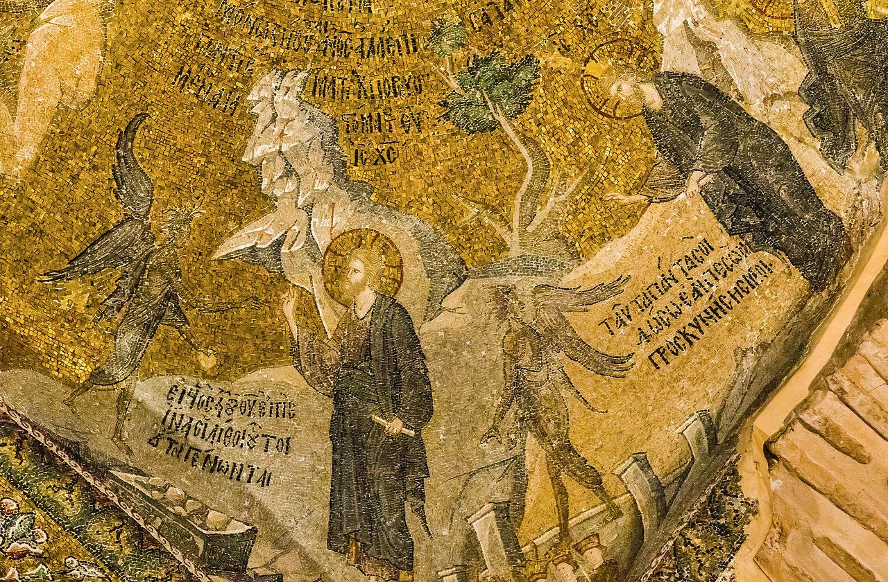 Istanbul, Chora-Kloster: Versuchung Christi (41)