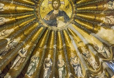 Istanbul, Chora-Kloster: Pantokrator mit Vorfahren Christi (66)