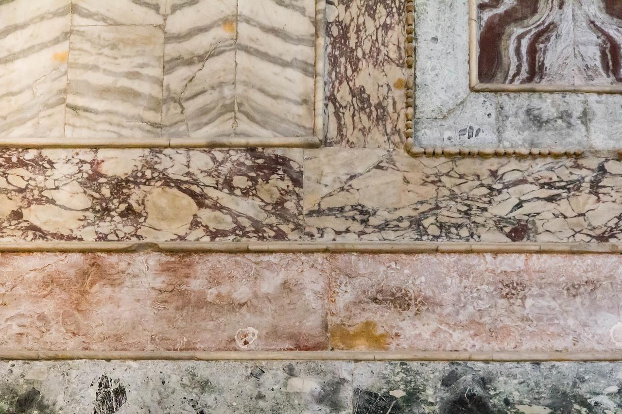 Istanbul, Chora-Kloster: Naos, Marmorinkrustationen an Nordwand