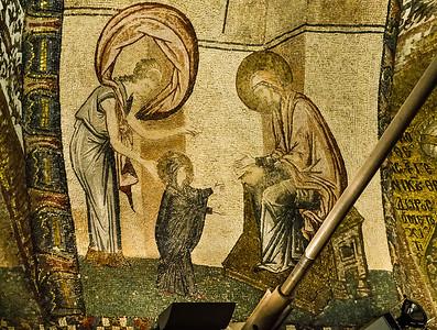 Istanbul, Chora-Kloster: Die ersten 7 Schritte Marias, Detail (15)