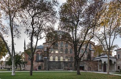 Istanbul, Hagia Eirene (Sent Iren Kilisesi) von Nordosten