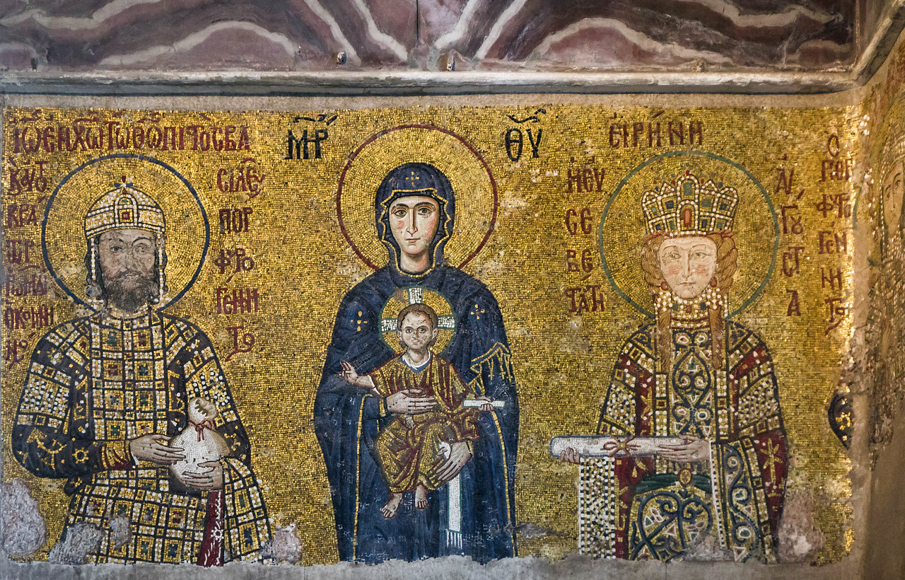 Istanbul, Hagia Sophia: Ioannes Komnenos, Eirene und Alexios (um 1120)