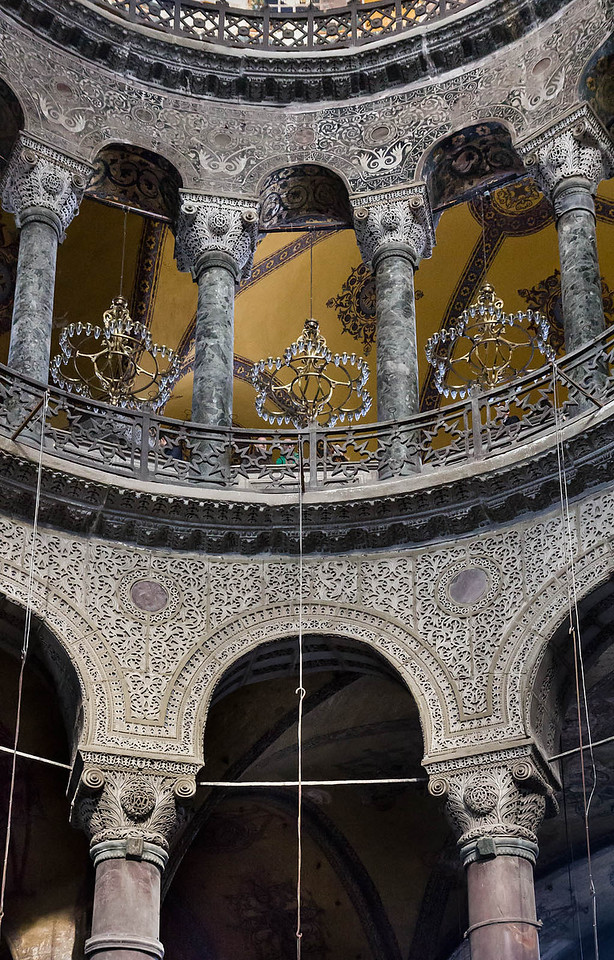 Istanbul, Hagia Sophia: nordwestl. Exedra aus Naos, Detail