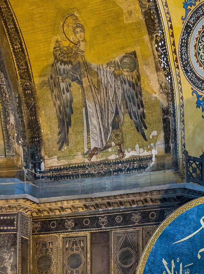 Istanbul, Hagia Sophia: Erzengel Gabriel in der Apsis (867)