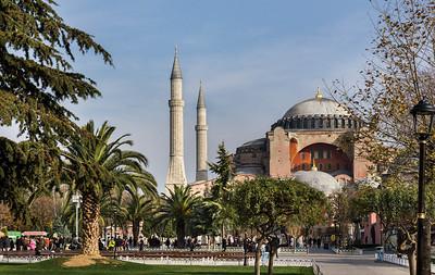 Istanbul, Hagia Sophia vom Sultanahmet Park