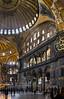 Istanbul, Hagia Sophia: Blick von Westen Richtung Apsis und südl. Schildwand