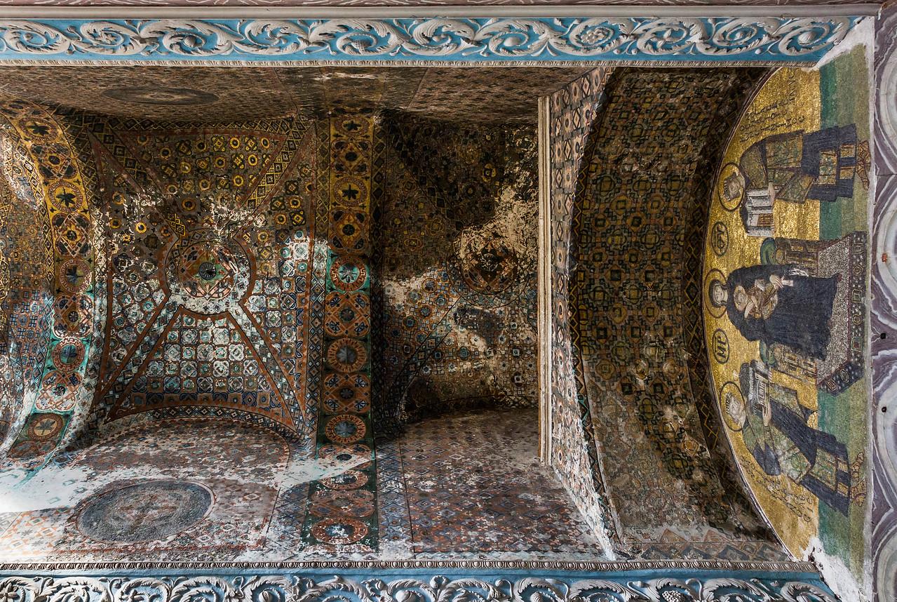 Istanbul, Hagia Sophia: Gewölbezone des Südvestibüls des inn. Narthex