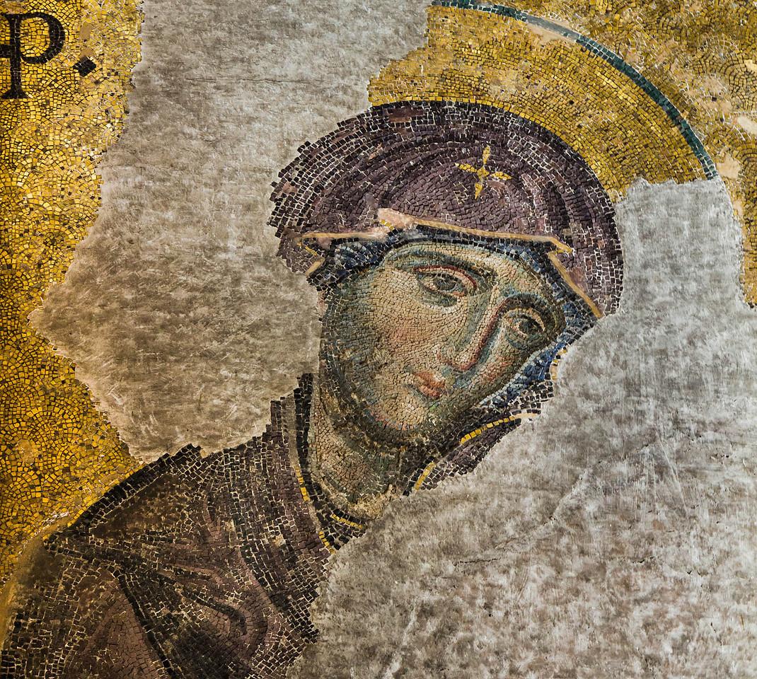 Istanbul, Hagia Sophia: Große Deesis - Maria (Ende 13. Jh.)