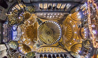 Istanbul, Hagia Sophia: Panorama der Kuppeln