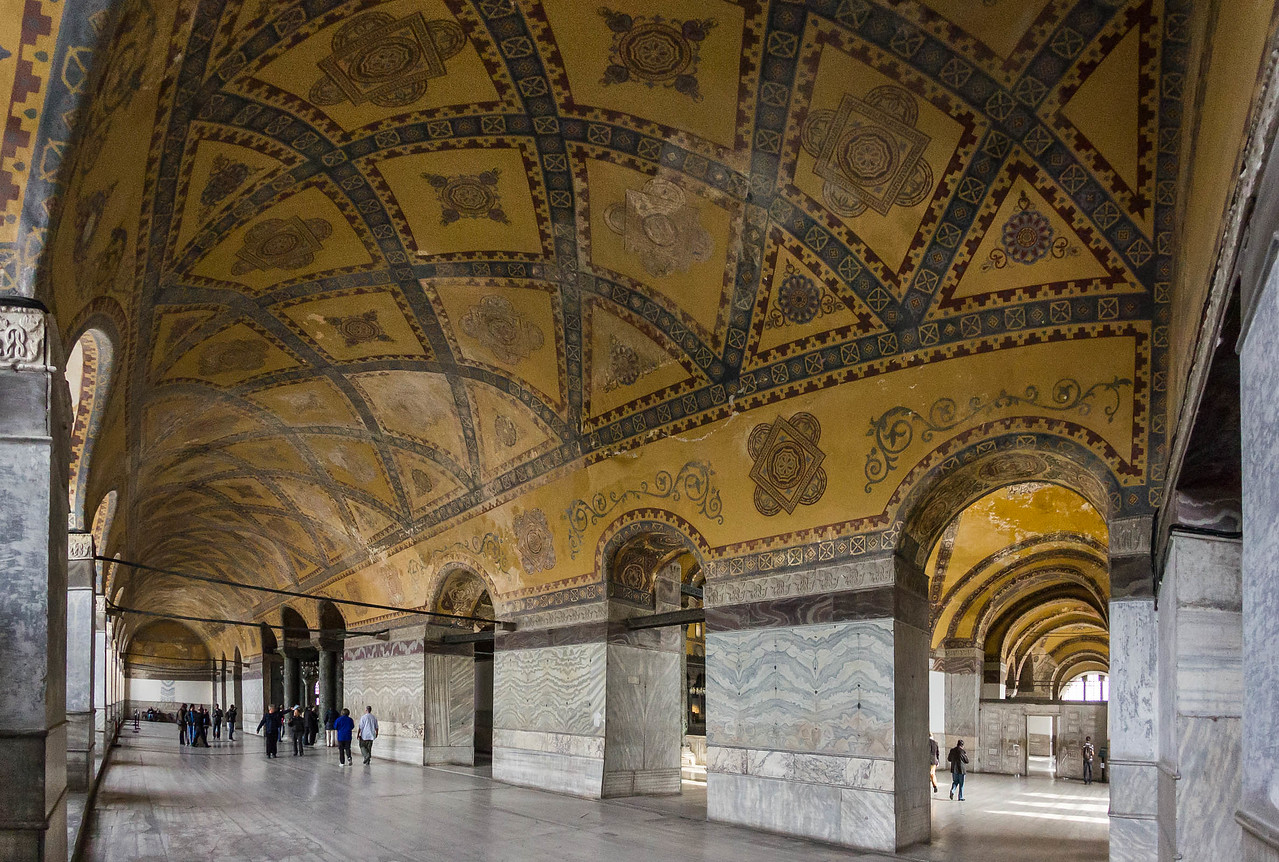 Istanbul, Hagia Sophia: westl. Emporenraum Richtung Norden