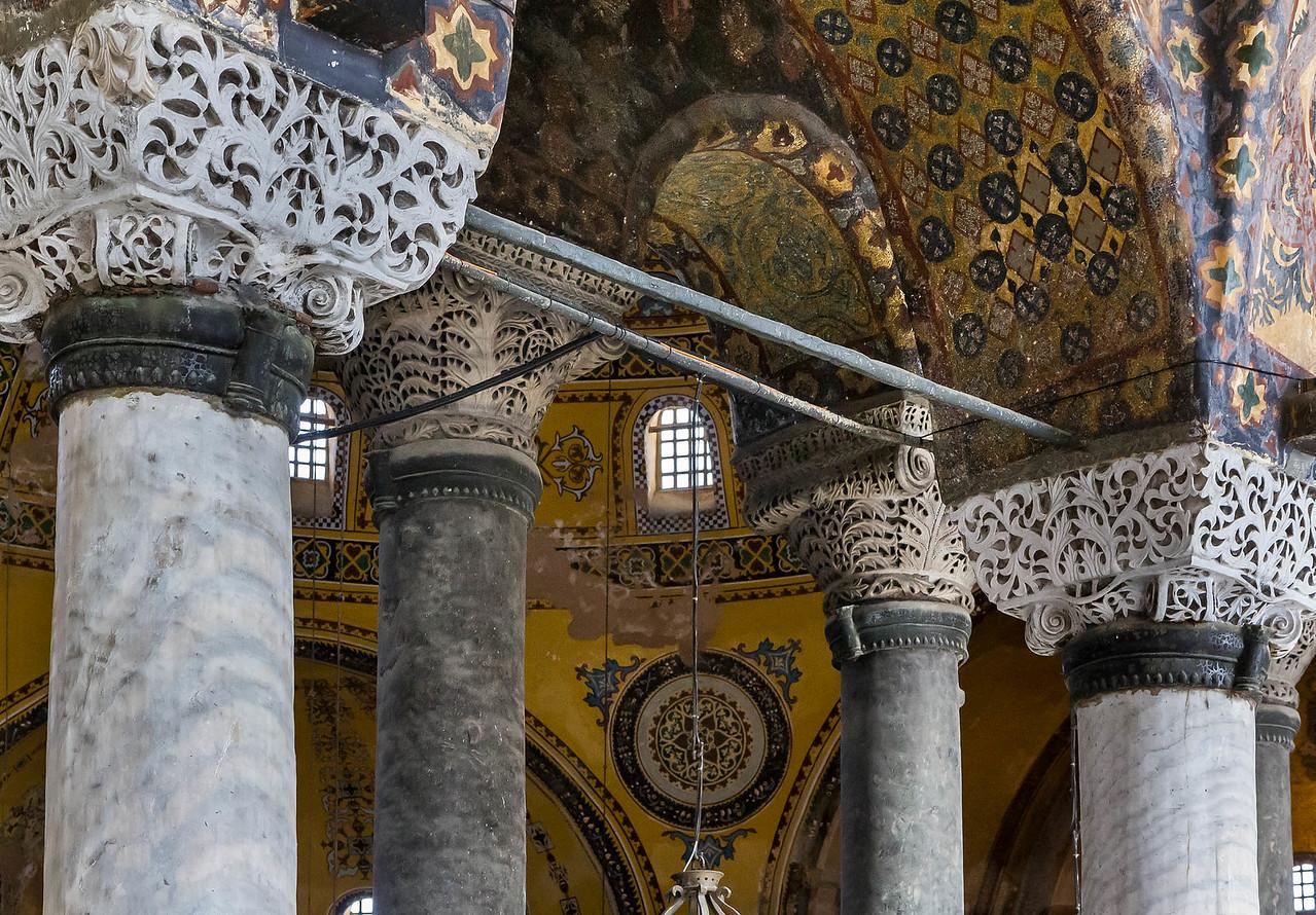 Istanbul, Hagia Sophia: Kapitelle im südl. Emporensaal