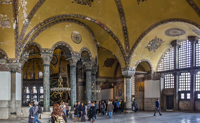 Istanbul, Hagia Sophia: südöstl. Emporensaal Richtung Osten