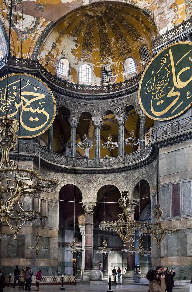 Istanbul, Hagia Sophia: nordwestl. Exedra aus Naos