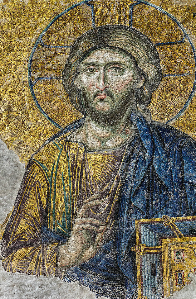 Istanbul, Hagia Sophia: Große Deesis - Christus (Ende 13. Jh.)