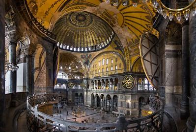 Istanbul, Hagia Sophia: Blick aus der südöstl Exedra Richtung Nordwest