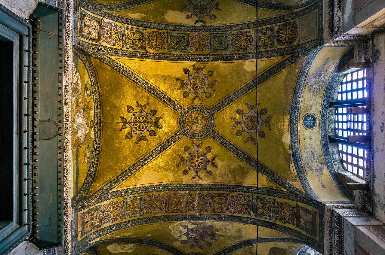 Istanbul, Hagia Sophia: Gewölbefeld des inneren Narthex über Kaisertür