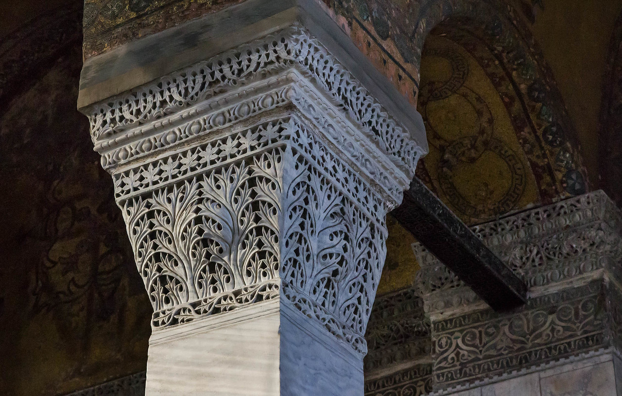 Istanbul, Hagia Sophia: Kapitelle der nordöstl. Exedra