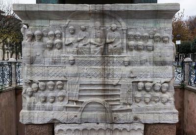 Istanbul, Obelisk im Hippodrom: Südwestseite