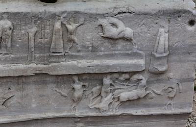 Istanbul, Obelisk im Hippodrom: Südostseite, Wagenrennen im unteren Block