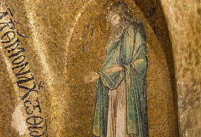 Istanbul, Pammakaristos: Johannes der Täufer in Apsis, Detail