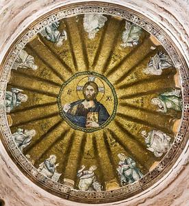 Istanbul, Pammakaristos: Kuppelmosaik mit Christus Pantokrator und Propheten