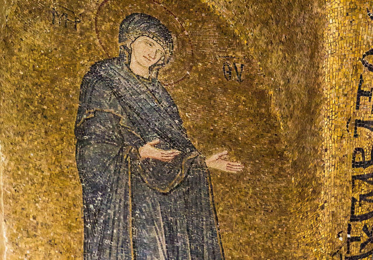 Istanbul, Pammakaristos: Maria in Apsis, Detail