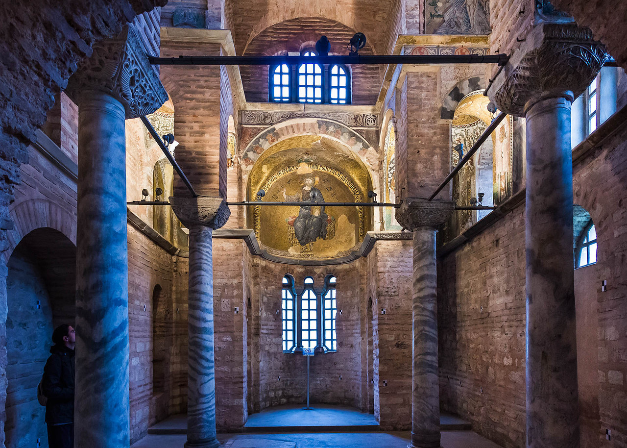 Istanbul, Pammakaristos: Blick aus Narthex nach Osten in Apsis der Grabkapelle