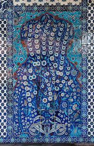 Istanbul, Rüstem Pascha: Bildfeld einer Blütenstaude in Vorhalle