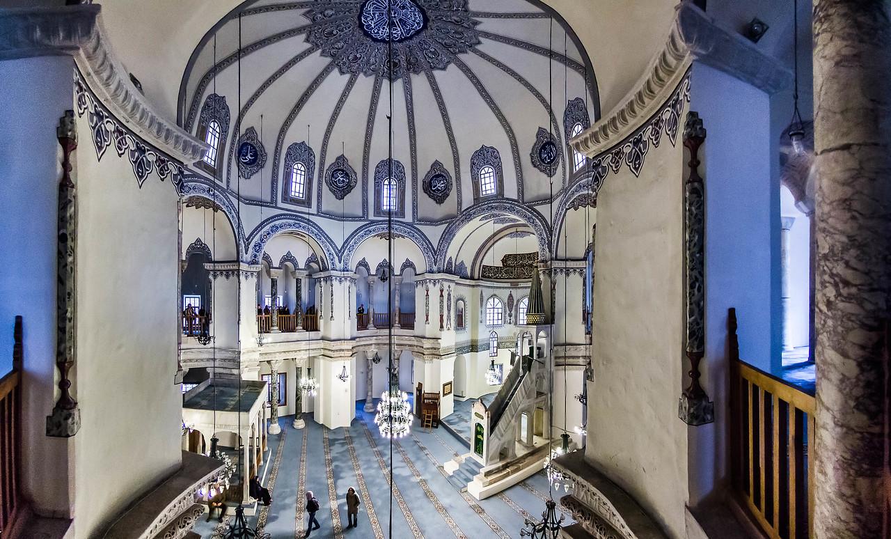 Istanbul, Sergios und Bakchos: Inneres von Empore nach Nordosten