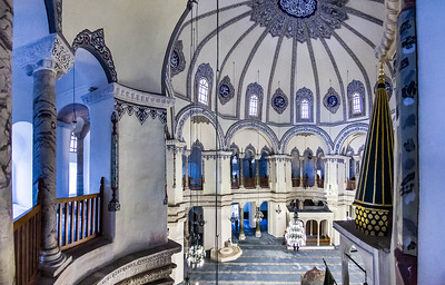Istanbul, Sergios und Bakchos: Inneres von Empore nach Westen