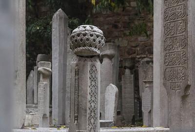 Istanbul, Sergios und Bakchos (Küçük Ayasofya Camii): Detail des Friedhofs