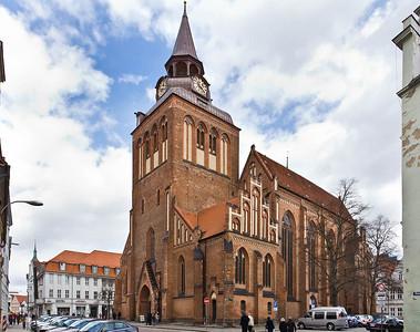 Güstrow. Marktkirche von Südwesten