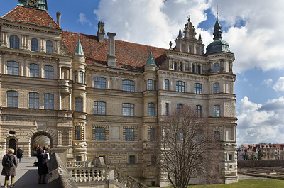 Güstrow, Schloss. Westfassade, südl. Teil
