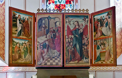 Gandersheim. Stiftskirche: Dreikönigsaltar, 1. Wandlung, Malerei (1480/90)