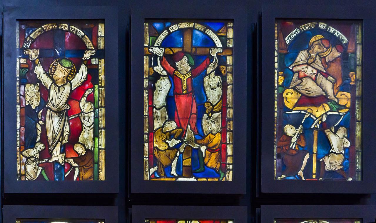 Goslar. Marktkirche Cosmas und Damian, Fenster 7 bis 9 (vor 1250)