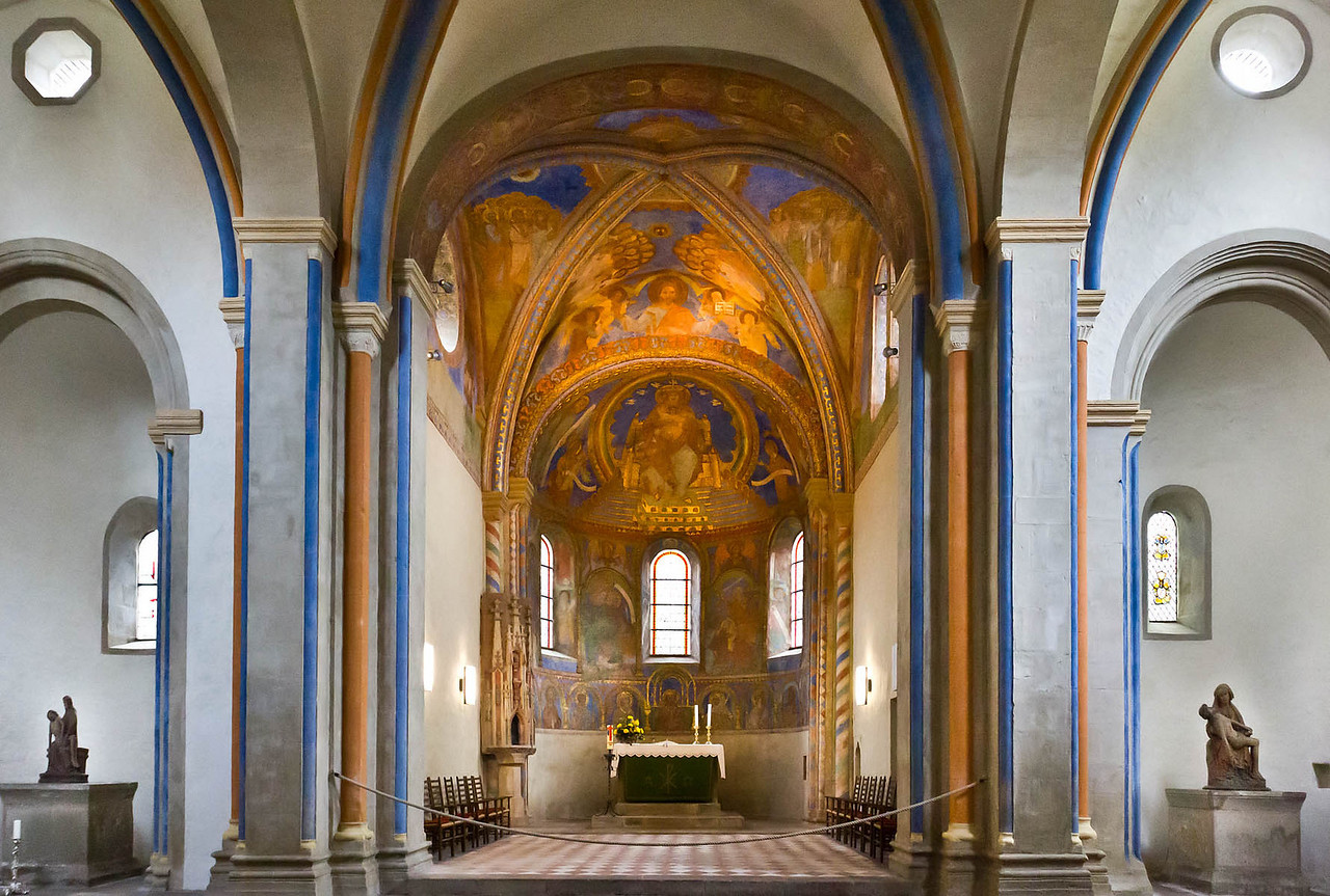 Goslar. Neuwerkkirche: Chor, Wandmalerei 1230/40, im 19. Jh. ergänzt