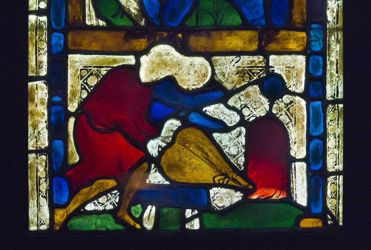 Goslar. Marktkirche Cosmas und Damian, Fenster 5, Detail: Im Feuerofen