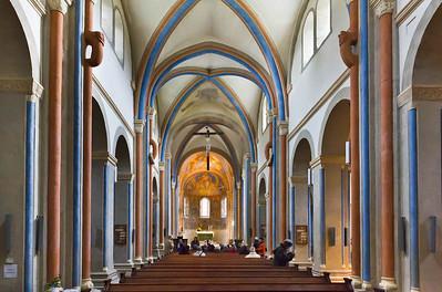 Goslar. Neuwerkkirche: Längsschiff nach Osten