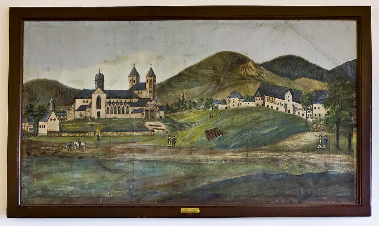 """Goslar. Ansicht von """"Dom und Kaiserhaus"""" um 1800"""
