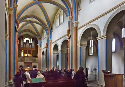 Goslar. Neuwerkkirche: Längsschiff nach Nordwest