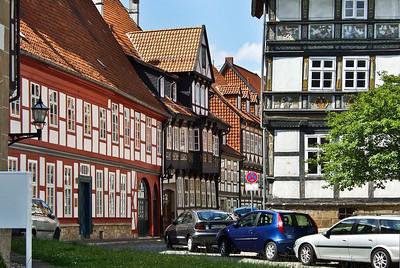 Hildesheim, Hinterer Brühl, Ecke Godehardiplatz