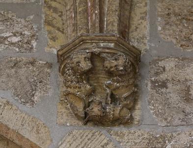 Walkenried, Klosterkreuzgang. Wandkapitell