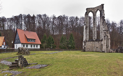 Walkenried, Klosterkirche. Chorpolygon von Westen
